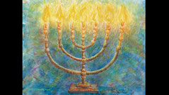 Chakras as menorah lights